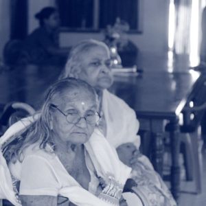 Old age home art activity and entertainment